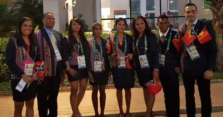 Delegasaun Timor-Leste iha serimonia abertura Jogu Olimpiku iha Brazil, Rio de Janeiro 2016. Foto/Imagen Francelina Cabral